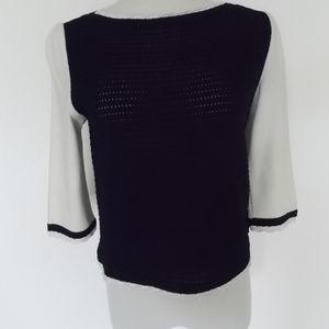 ST JOHN Black White Novelty Sweater Sz XS P